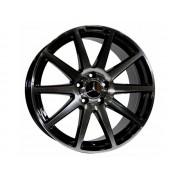 Replica Mercedes (MB9028) 8.5x18 5x112 ET45 DIA66.6 (gloss black machined face)