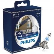 Лампа галогенная Philips H7 RACING VISION +150%, 2 шт блистер 12972RVS2