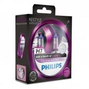 Лампа галогенная Philips H7 ColorVision Purple, 2шт/блистер 12972CVPPS2