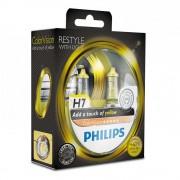 Лампа галогенная Philips H7 ColorVision Yellow, 3350K, 2шт/блистер 12972CVPYS2
