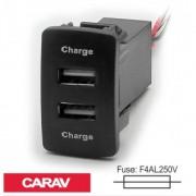 Разветвитель USB Carav 17-205 Honda/Acura (2 порта)