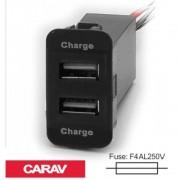 Разветвитель USB Carav 17-208 SUZUKI 5v 2.1A (2 порта)