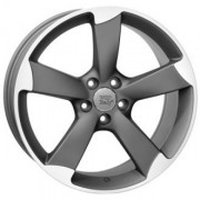 WSP Italy Audi (W567) Giasone 8x17 5x112 ET47 DIA66.6 (matt gun metal Polished)