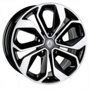 Replica Peugeot (PG5231) 7.5x17 5x108 ET40 DIA65.1 (black machined face)