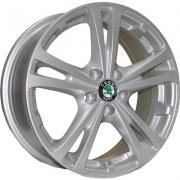 TRW Z616 6x15 5x100 ET43 DIA57.1 (silver)