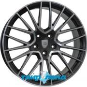 WSP Italy Porsche (W1058) Okinawa 11x21 5x130 ET58 DIA71.6 (anthracite polished)