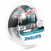 Лампа галогенная Philips H7 X-treme VISION +130%, 3700K, 2шт/блистер 12972XV+S2
